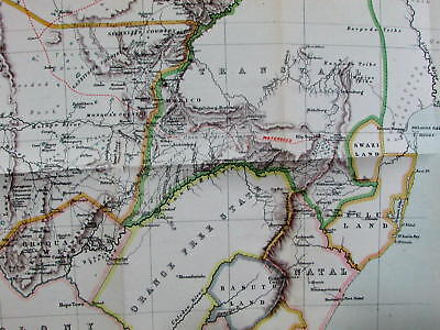 South Africa Cape Colony Transvaal Orange Free State colonies 1884 Anderson map