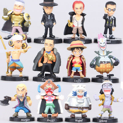 One Piece Luffy Sabo Shanks Lucci Action Figure Kids Gift Toys Doll 12PCS Statue