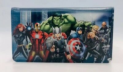 Genuine Leather Avengers Checkbook Cover