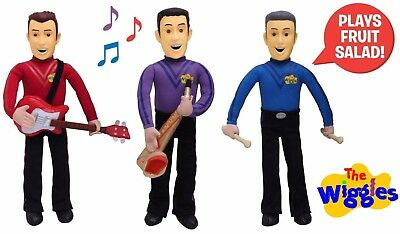 THE WIGGLES Squeeze & Play SIMON - LACHY - ANTHONY Talking Plush Doll Figures
