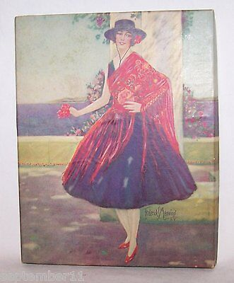Frederick S.Manning, NY Art Vogue Box Handkerchiefs & Bouteniere Spanish Lady