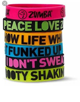 Zumba fitness  Express Yourself Rubber Bracelets - 6 Pack!  New with tags
