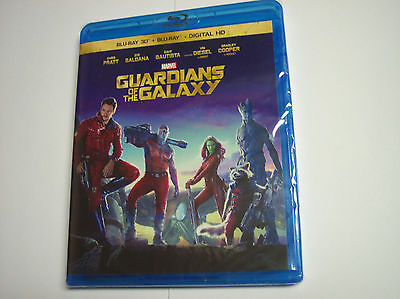 Guardians of the Galaxy NO Slipcover (Blu-ray 2D/3D, 2014, Digital HD)
