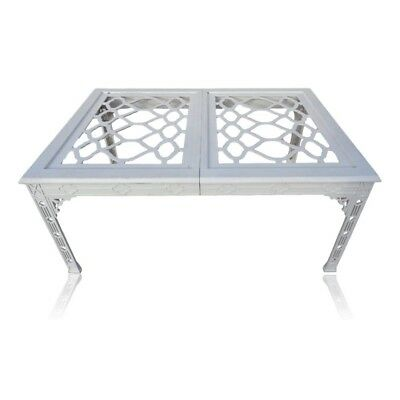 Vtg Hollywood Regency Fretwork Ext Dining Table By Tomlinson Chinese Chippendale