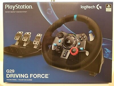 Logitech G29 Driving Force Racing Wheel for PS4 PS3 + PC - Factory Sealed