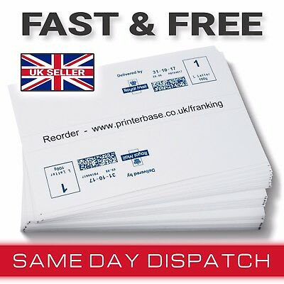 Franking Machine Pitney Bowes Double Labels per Sheet (50 100 250 500 1000)