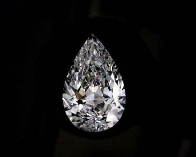 Moissanite Pear Forever One Loose VVS1 G-H-I Color Engagement Free Shipping