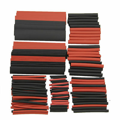 150Pcs 2:1 Heat Shrink Tubing Tube Sleeving Wire Cable 2-13mm 8 Sizes Black Red