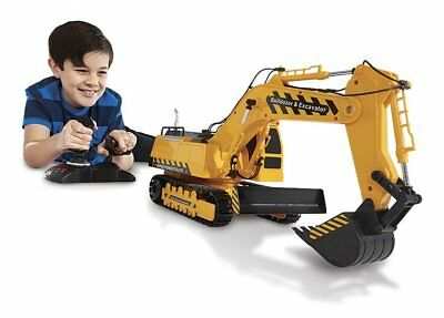 REMOTE CONTROL EXCAVATOR RC Crawler Tractor Vehicle Toy Digger Bulldozer Truck