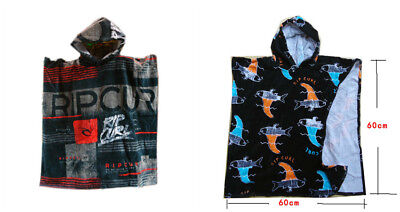 New Arrival Rip Curl Hooded Towel for Kids Bath Wrap Beach Poncho Size 60*60CM
