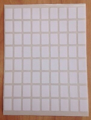 288 Small White Labels 8mm X 12mm Price Stickers,Tags,Blank,Sticky,Self Adhesive