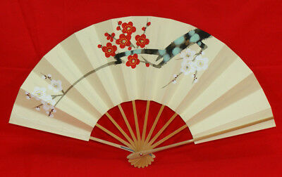 "Kyoto Mai-ogi (fan for Japanese traditional dance)""Red and white plum blossoms"""