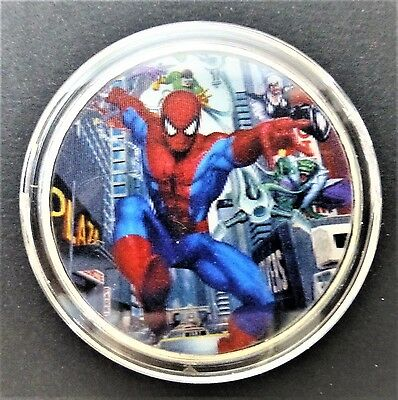 Spider Man - Super Strength And Agility - 1Oz Silver Layered Coin