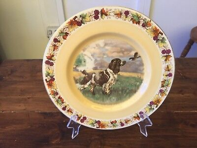 Vintage Clarice Cliff Royal Staffordshire Setter Dog Dinner Ware Plate