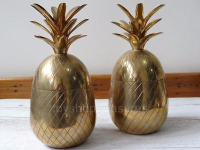 Hollywood Regency Vintage Brass PINEAPPLE Ice Bucket Candle Holder 23 - 24cm