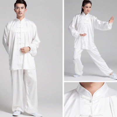 Chinese Kung Fu Suits Martial Arts Tai Chi Uniform Costume for Men Women k7y