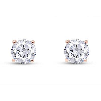 IGI Certified (0.50ct & up) - Natural Diamond Stud Screw Back Earrings 14k Gold