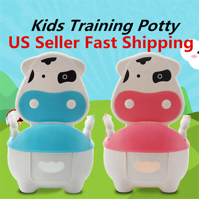 Portable Potty Training Baby Toilet Seat Toddler Cartoon Chair Kids Trainer US