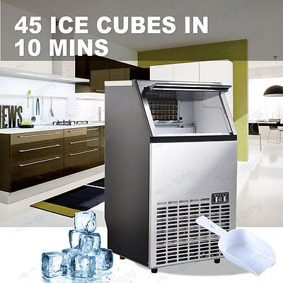 45~60KG/Day Commercial Ice Maker Portable Cube Machine Auto Snow Home Business G