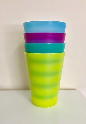 ❤️BNIP Tupperware Expressions Tumbler 330ml set of 4 Great For Kids Camping ❤️
