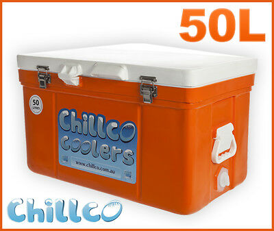 50L Chillco Ice Box Cooler Chilly Bin Superior Ice Retention - Rrp $320