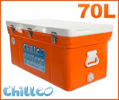 70L Chillco Ice Box Cooler Chilly Bin Superior Ice Retention - Rrp $380