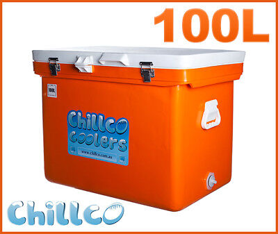 100L Chillco Ice Box Cooler Chilly Bin Superior Ice Retention - Rrp $450