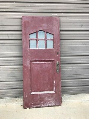 Ed Antique Beveled Glass Entrance Door Arts And Crafts 33.75 x 80
