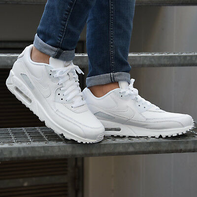 nike air max 90 leather bianche