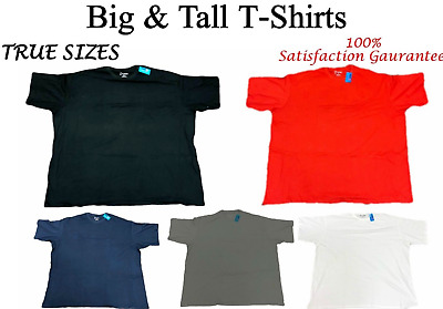 Big and Tall T-Shirts - Casual TRUE SIZE Comfort Tee - Size 6XL 7XL 8XL