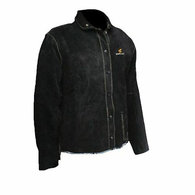 Welding Black Leather Welding Jacket, Sparcweld or Arclabs logo