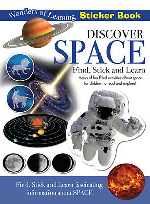 Wonders of Learning Sticker Book - DISCOVER SPACE - Kids Fun, Find Stick & Learn