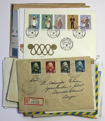Finland, Norway Bundle of Mixed Covers, First Day Covers, Cards etc.