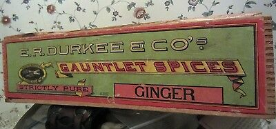 DURKEE'S GINGER BOX  label Chicago Exposition worlds fair 1893 Columbian expo