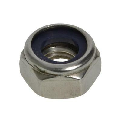 M2 M2.5 M3 M4 M5 M6 M8 M10 M12 M16 M20 M24 Metric Coarse Nyloc Nut Stainless 304