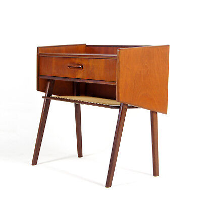 Retro Vintage Danish Modern Teak Hall Stand Chest of Drawers Bedside Table 60s