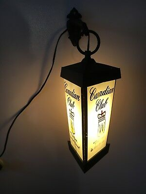 Vintage Canadian Club 3 Sided Light