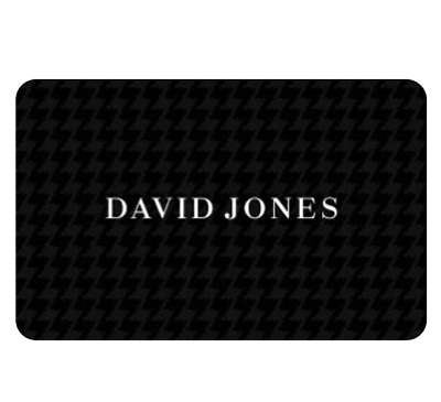 David Jones Gift Card $20 $50 or $100 - Email Delivery