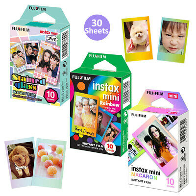 For Fujifilm Instax Mini 7s 8 9 Instant Camera Film 30 Sheets Color Design Photo