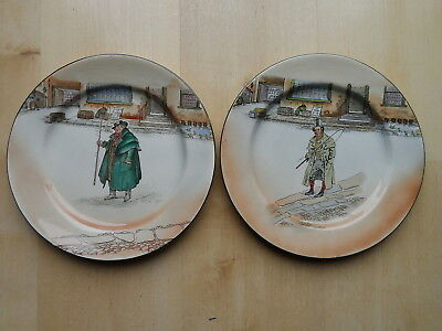 """Royal Doulton Series Ware Plates X2 Tony Weller & Barkis 10.5"""" Wide"""