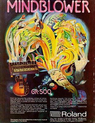 "ROLAND GR-500 AD 1978 - psychedic ""set your creativity free"" - cool artwork"