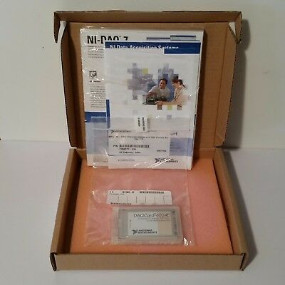NEW National Instruments DAQCard-6024E and NI DAQ SW COMBO 778269-01 187168D-02