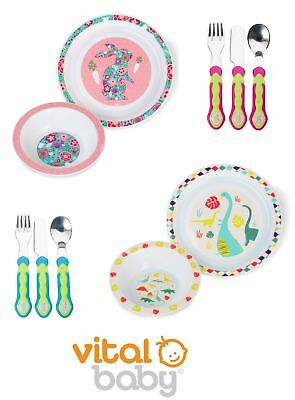Vital Baby Tableware Set, Anti-Slip Plate and Bowl-Vital Baby Cutlery Set