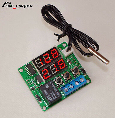 Red Digital Temperature Control Thermometer Sensor 5V With 1m Waterproof Probe