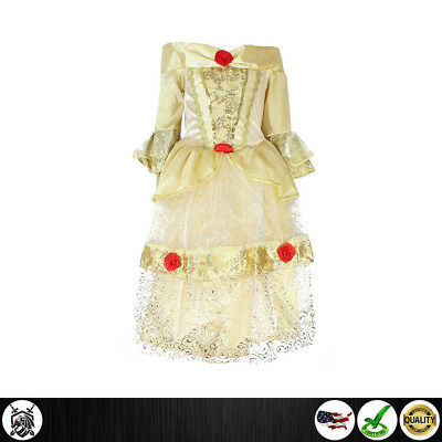 New Girls Beauty and the Beast Princess Belle Costume Fairy Party Fancy Dress