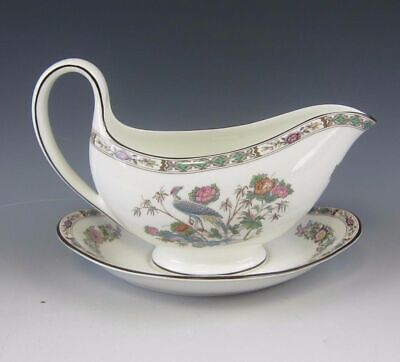 Wedgwood China KUTANI CRANE Gravy Boat(s) with Under Plate(s) EXCELLENT