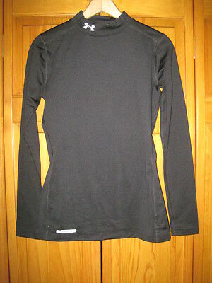 Under Armour Cold Gear Fitted shirt women's S black running fitness soccer gym
