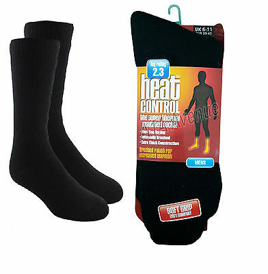 New Men's Adults Heat Control Thermal 2.3 Insulated Work Boot Socks Black 6-11