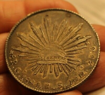 1894 Piece of Eight Some wear, most details clear