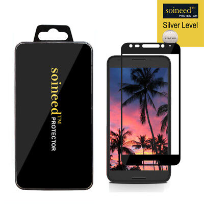 SOINEED Alcatel A30 Fierce / Plus [Full Cover] Tempered Glass Screen Protector